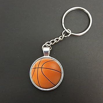 Baloncesto Colgante sobre un split ring Llavero Ideal regalo ...