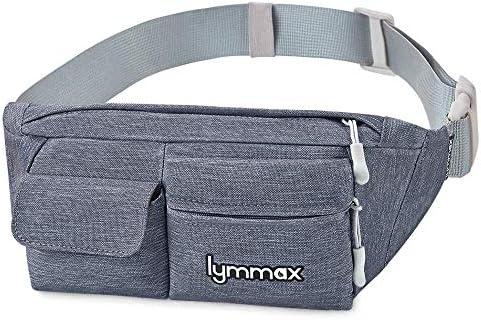 Lymmax Fanny Pack Waist Bag 4 Pockets Running Belt Adjustable Water Resistant Waist Pack for Men Women Workout Travel Large Capacity
