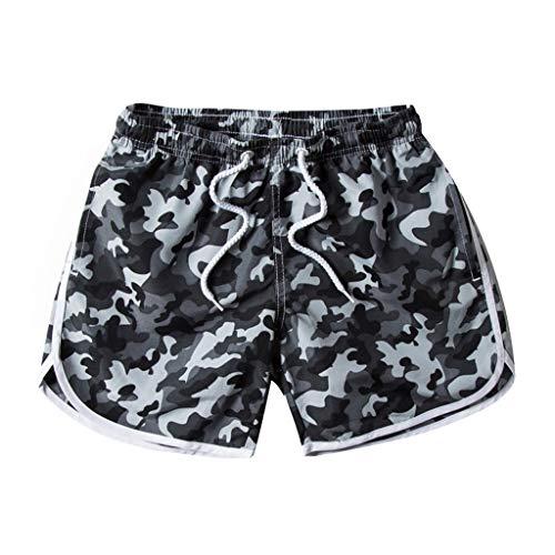 (Simayixx Bathing Suits Women's Workout Yoga Hot Shorts Beach Camouflage Printed Short Pants Sweatpants Teens Swim Trunks)