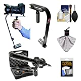 Vidpro SB-10 Professional Video Camcorder & Digital SLR Camera Stabilizer with Vidpro XM-55 13-Piece Microphone Set + Accessory Kit