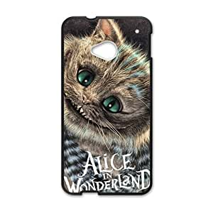 Happy Alice In Wonderland Fashion Comstom Plastic case cover For HTC One M7