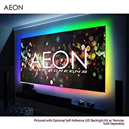 Elite Screens Aeon, 110-inch 16:9, 4K Home Theater Fixed Frame EDGE FREE Borderless Projection Projector Screen, AR110WH2