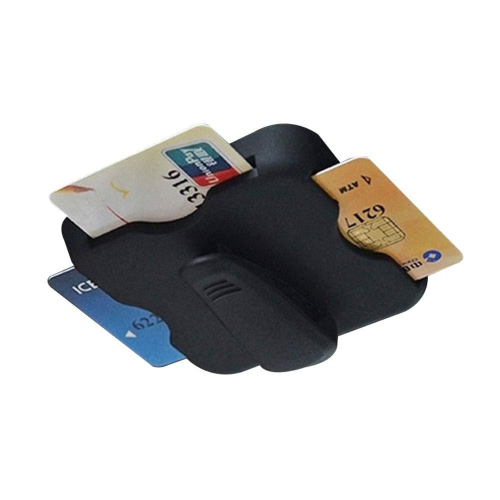Aolvo multi-funzione auto aletta parasole carte di Inseritore, Sunglass Visor clip, morsetto della clip, doppio uso per Expressway IC di passaggio e bancomat clip Gray