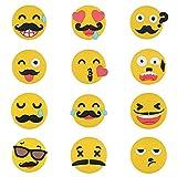 Moustache Fridge Magnets, 3D Emoji Round Refrigerator Magnet Sticker Cute for Magnetic Whiteboard White Board, Home, Kitchen Office School Lockers Decoration (1pc Emoji - Random)