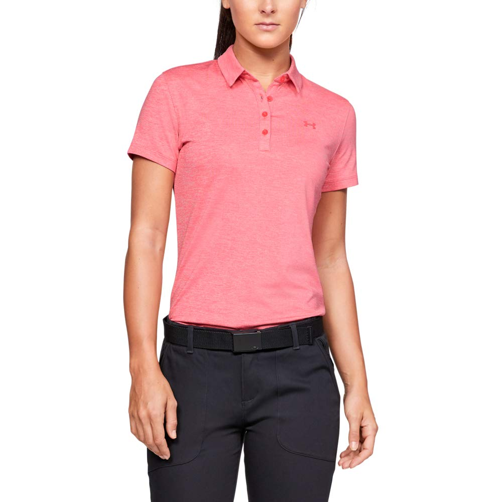 Under Armour Womens Zinger Short Sleeve Golf Polo, Perfection (853)/Perfection, X-Small