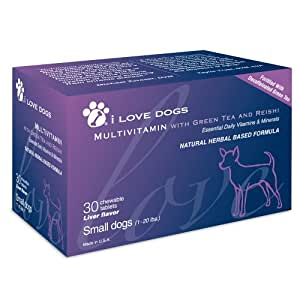 Multivitamin with Green Tea and Reishi, 30 Tablets, Small Dogs (0-20 lbs.)
