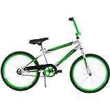 "20"" Easy-to-Use, Coaster Brakes Boys' Rock It Bike, Silver/Green"