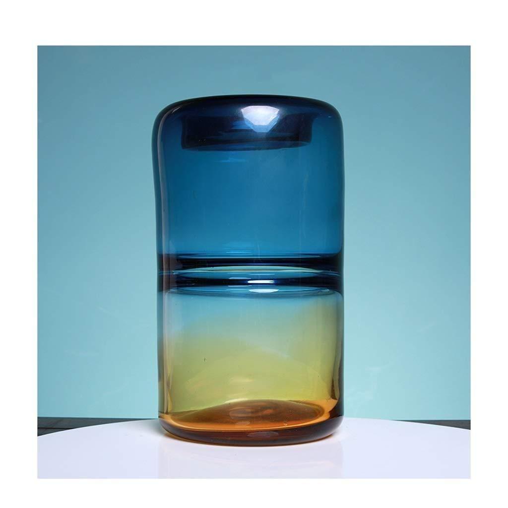 花瓶透明ガラス工場ホーム北欧デスクトップ装飾植物コンテナフラワーポット (色 : C) B07RPBCB2X C