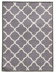 "WJ Dennis & Company SHIGR2635 Shitake Decorative Floor Mat, 26"" by 35"", Grey"