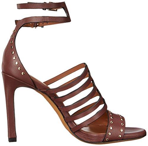 Cruz Ankle Buckle Sandal Strap Women's Double Burgundy Lola SdpwqBB