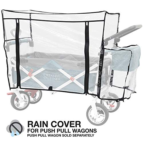 Creative Outdoor Distributor 999592 Push Pull Folding Wagon Rain Cover, Clear