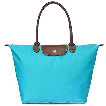Amazon.com  BEKILOLE Women s Stylish Waterproof Tote Bag Nylon Travel  Shoulder Beach Bags Foldable Bag -Turqouise Color - Large Size  BEKILOLE 1717e6cfe