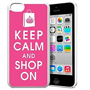 diy phone caseKeep Calm and Shop On Pattern HD Durable Hard Plastic Case Cover for ipod touch 4 Design By GXFC Casediy phone case