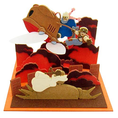 Sankei Studio Ghibli mini sky Castle in the sky Theta rescue scale papercraft MP07-17