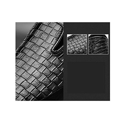 Uomo Arrotondato Pelle Estate A da in Inverno Business Colori Morbido Strisce A A Strisce Primavera Autunno Scarpe Sport Black Casual f0txfw