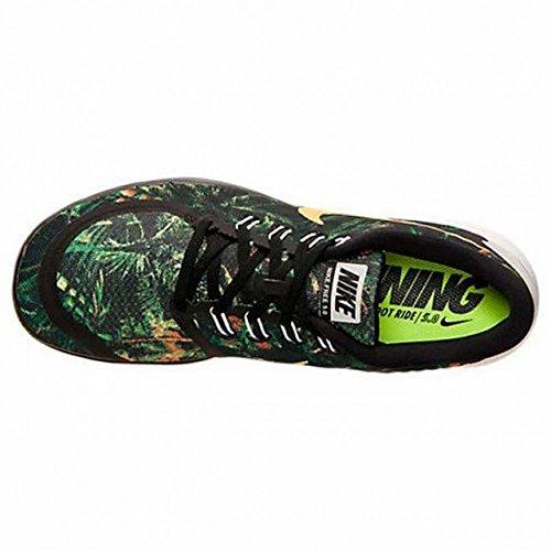 Nike Hommes Libre 5,0 Solstice Chaussure De Course Noir / Platine Pur / Agrumes Lumineux 13 D (m) Nous