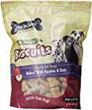 Three Dog Bakery Biscuits Apple Oatmeal Dog Treats, 32-Ounce