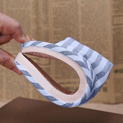Wodeal Slippers, Dames En Heren Katoenen Vlas Casual Huis Slippers Binnen En Buiten Blauw