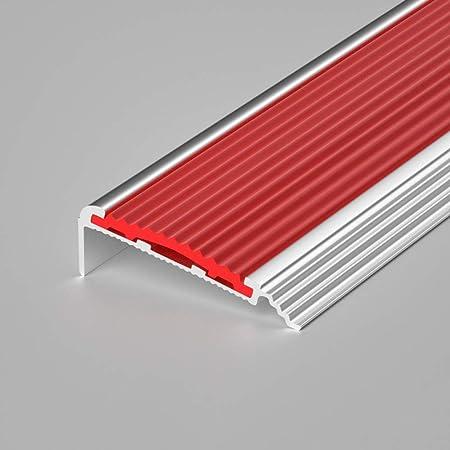 HUIJ Perfil Bordes de escaleras Perfil de Borde Antideslizante Pegatinas Antideslizantes de PVC Nariz Antideslizante Escalera A Prueba de Polvo, Antideslizante,para escaleras Escolares(90cm): Amazon.es: Hogar