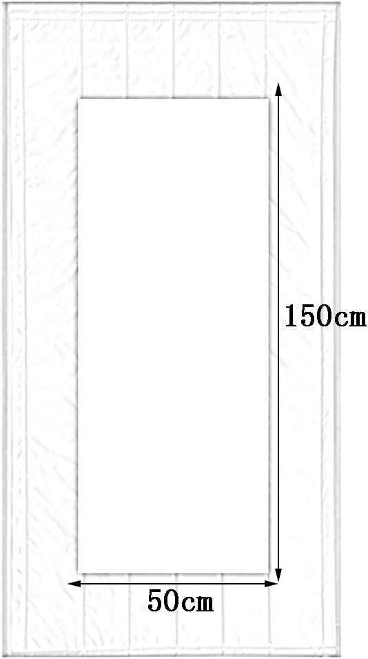 WUFENG-Rideau de porte /Épaissir Coton Isolation Imperm/éable R/ésistant Au Froid Isolation avec Fen/être 4 Couleurs Plusieurs Tailles Peut /Être Personnalis/é Couleur : A, Taille : 80x180cm