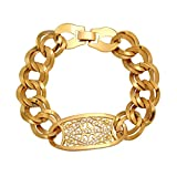 Product review for YAZILIND 18K Charm Gold Plated Women Flower Zircon Bracelet Chain Link Jewelry Gift