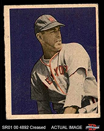 1949 Bowman 35 Vic Raschi New York Yankees Baseball Card Deans Cards 3