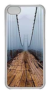Personalized Custom Huge Bridge for iPhone 5C PC Transparent Case