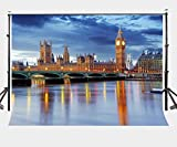 LYLYCTY 7X5ft London Big Ben Backdrop European Buildings British Dusk View Photography Background LYLX066