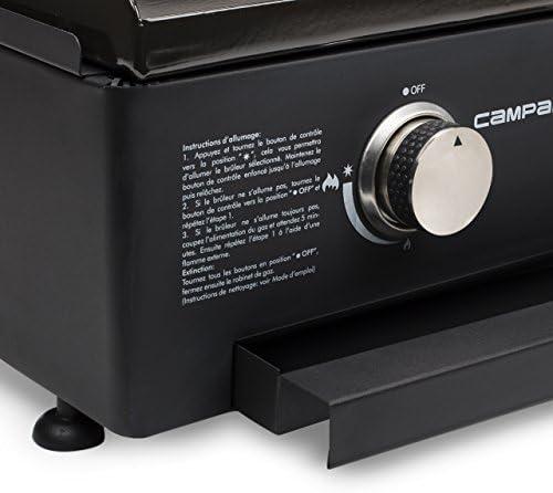 Plancha gaz Campart BA-8453 Vilamoura – 3 brûleurs – Plaque de cuisson en fonte