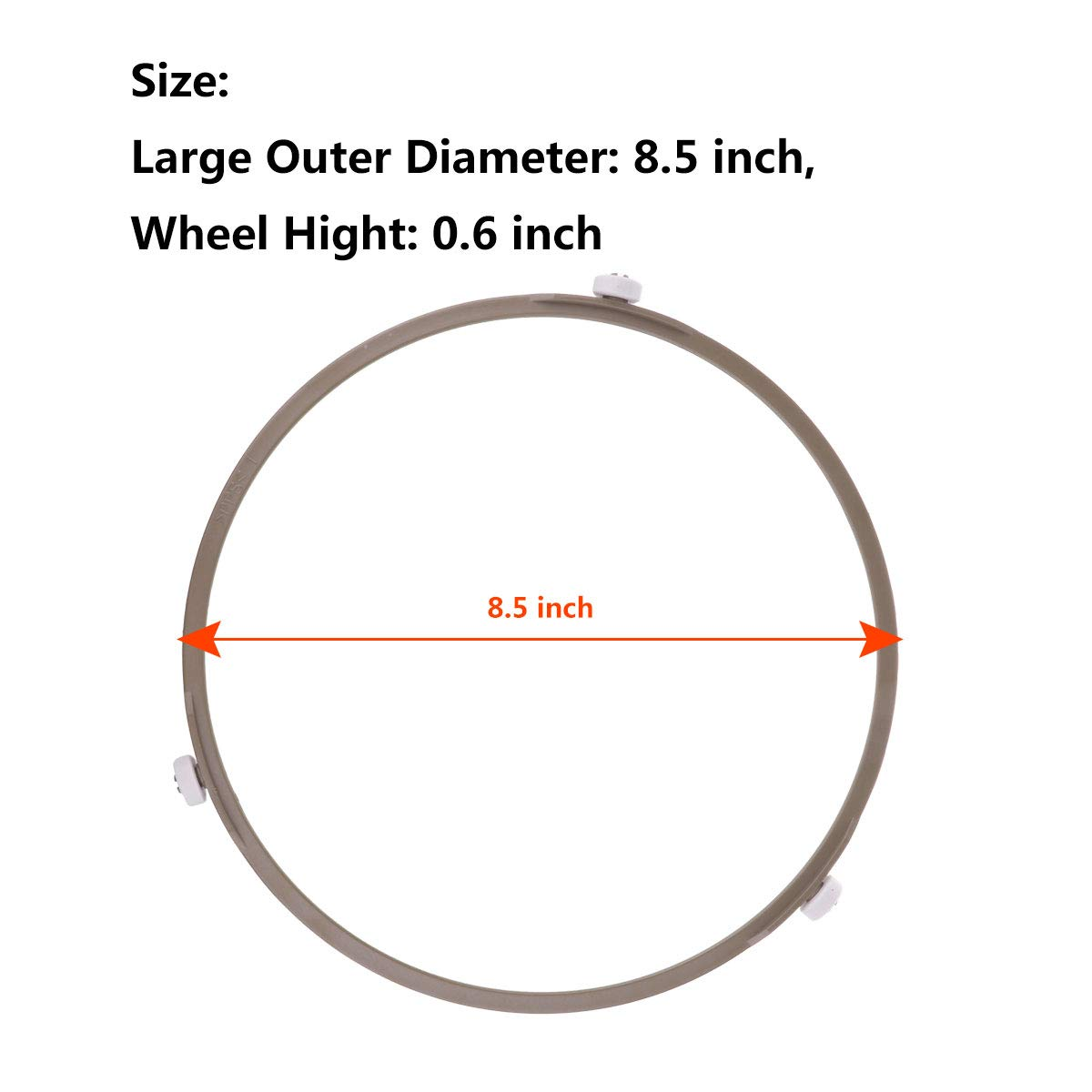 CHICTRY Microwave Oven Glass Turntable Circle Fittings Replacement Bracket Base Plate Tray Rotating Ring Support Roller Beige Small