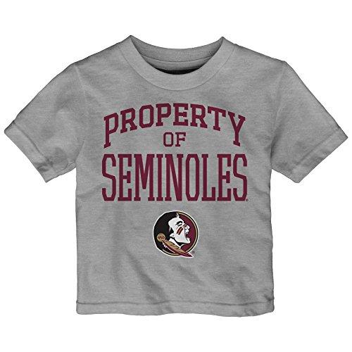 NCAA Florida State Seminoles Infant Team Property Short Sleeve Tee, 12 Months, Heather Grey