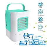 MOSTOP Air Conditioner Mini Portable Air Conditioner Energy Efficient Mini Air Conditioning Fan Desktop Cooling Fan for Office Home Outdoor Travel (Green)