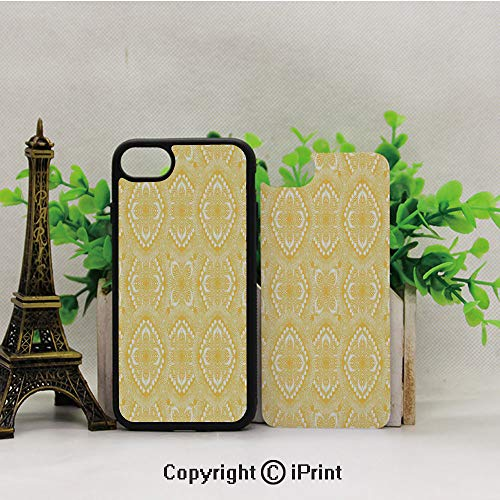 iPhone 8 Case,iPhone 7 Case,Oriental-Doily-Napkin-Motifs-Featured-Asian-Decorative-Elements-Curves,Lining Hard Shell Shockproof Full-Body Protective Case Cover