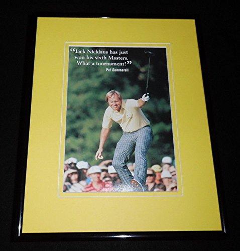 (Jack Nicklaus Framed 11x14 Photo Display 1986)