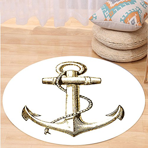 vroselv-custom-carpetnautical-decor-gold-foil-anchor-image-be-safe-and-grounded-voyage-journey-adven