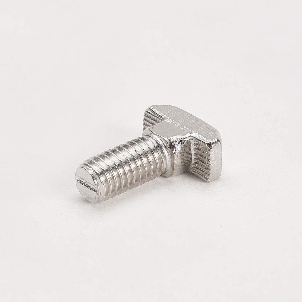 MroMax M8x20mm T Slot Drop-in Stud Sliding Bolt Screw Carbon Steel Silver Tone 5Pcs 20Pcs.