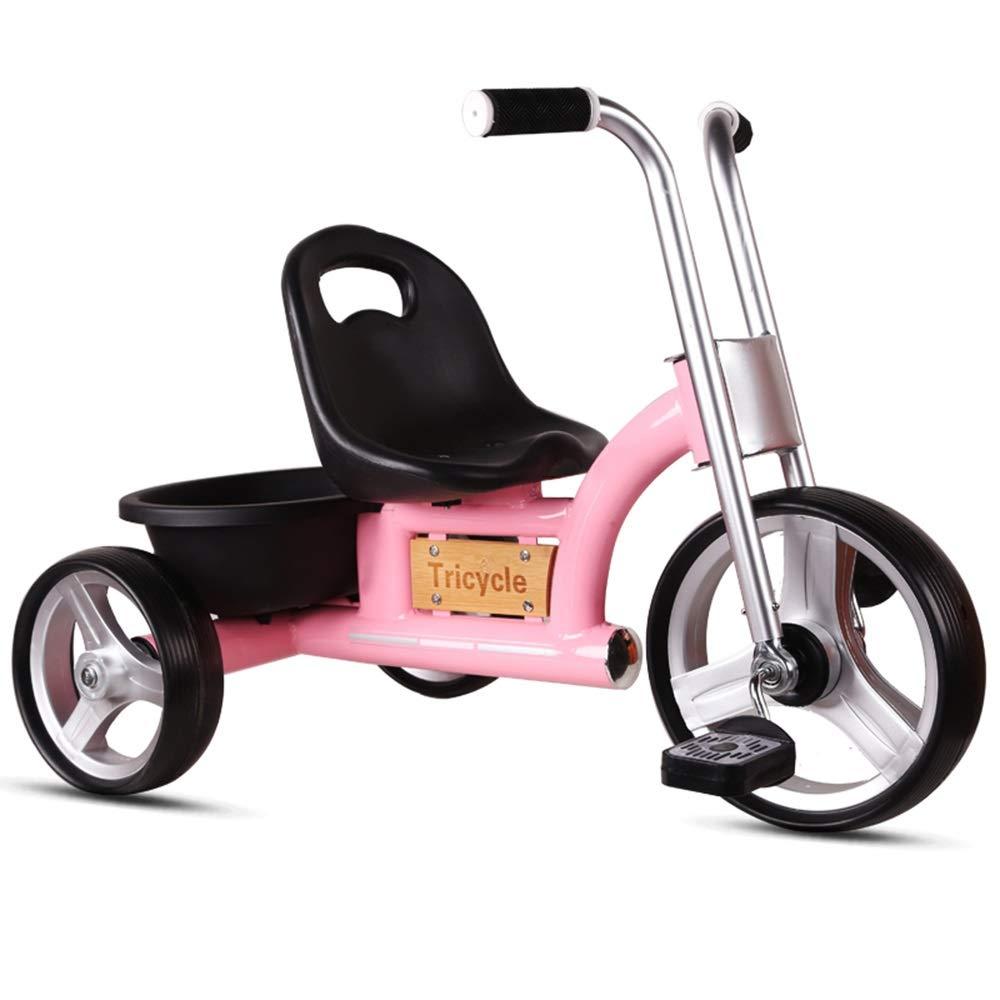 YUMEIGE 子ども用自転車 子供トライク1-6歳イギリスレトロ赤ちゃん自転車子供のおもちゃ車男の子と女の子のためのギフト 利用できるサイズ (色 : ピンク)  ピンク B07QJVPJDF