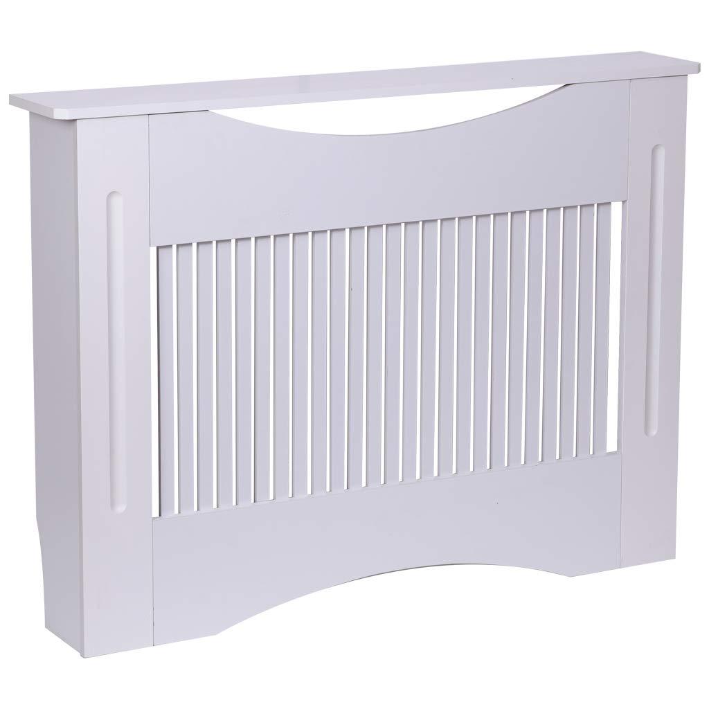 dise/ño Moderno L Tablero MDF Color Blanco Finether Mueble para radiador Pintado