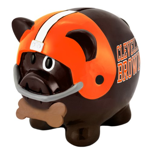 FOCO Cleveland Browns Thematic Piggy Bank ()