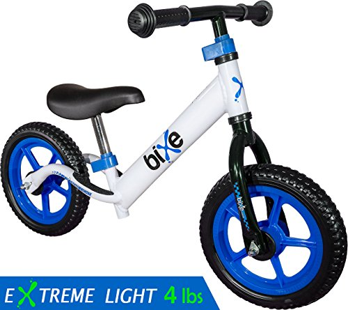 Fox Air Beds (4 LBS) Balance Bike for Kids and Toddlers - ALUMINUM Light Weight No Pedals Push and Stride Walking Bicycle (Blue) Balance Training Bike