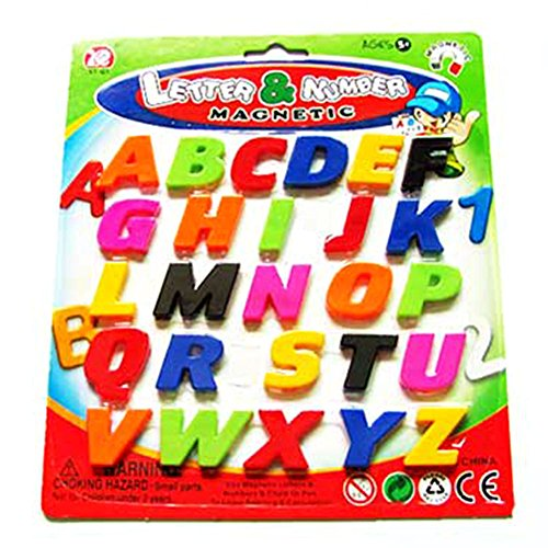 S&M TREADE-Child Kids Activity Toy Set Magnetic Letters and Numbers Fridge Magnets Alphabet (Uppercase-Letters)