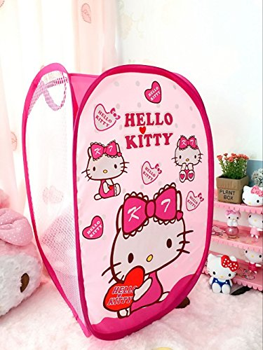 CJB Hello Kitty Foldable Pop Up Hamper Laundry Bag Heart Pink (US Seller)