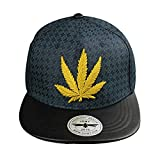 Men Snapback Hip Hop Flat Bill Adjustable 3D Cotton Lovers Baseball Cap Maple Leaf Valentine's Day Gift