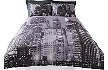 25c55f1c66d Image Unavailable. Image not available for. Colour: New York Skyline  Bedding Set ...