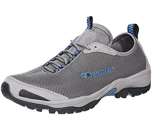 Ultralight Wading Shoe (XIANG GUAN Mens Walking Water Shoes Athletic Sport Outdoor Breathable Light Weight Lycra Mesh Running Shoes)