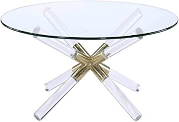 Amazon Com Acme Furniture 81025 Kalani Coffee Table Gold Clear