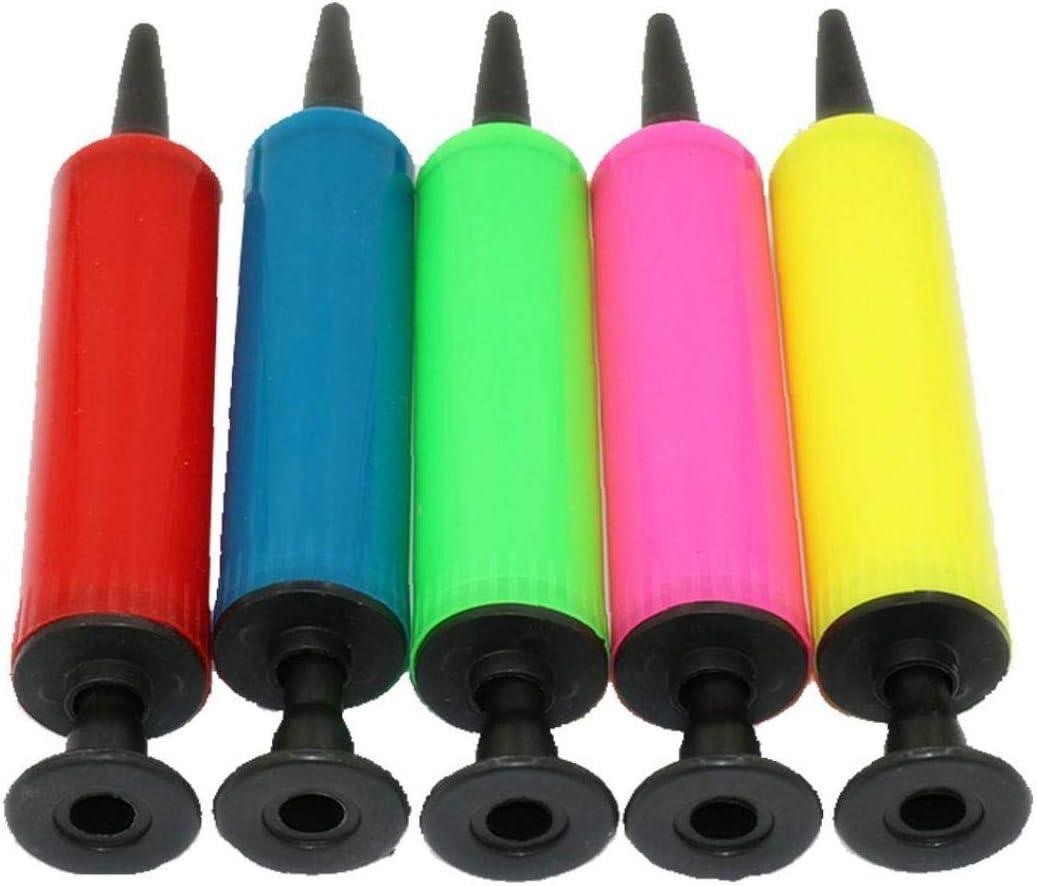 Zonfer Kunststoff-Handpumpe Mini-Luftpumpe Bewegliche Aufblaspumpe Au/ßen Fu/ßball Basketball-Ball Ballon-Handluftpumpe zuf/ällige Farbe