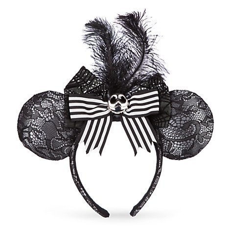 Disney Minnie Jack Skellington - Black Lace Ears Headband -