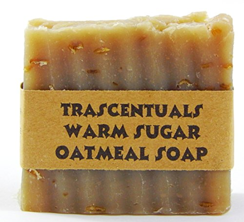Oatmeal Soap Natural and Handmade Soothing to Skin Safe on Face or Body Helps with Eczema and Dry Skin For Women Men and Teens Chemical Free (Warm Sug…