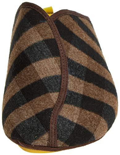 marrón Wash Abierto Casa Hombre De Zapatillas Estar Con Marrón Por 030 Nordikas Talón Para 7dR6q8wq